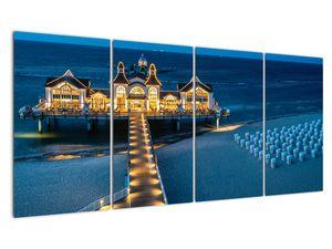 Tablou - hotel pe plajă (V020289V16080)