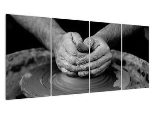 Černobílý obraz - výroba keramiky (V020349V16080)
