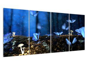 Obraz modrých motýlů (V020434V16080)
