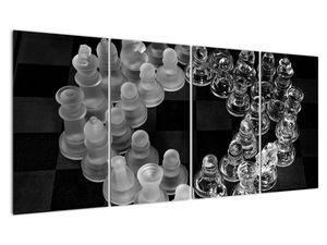 Obraz - černobílé šachy (V020598V16080)