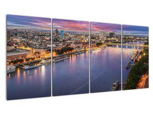 Obraz nočného mesta Bratislavy s riekou (V020706V16080)