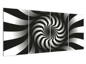 Abstraktní obraz černobílé spirály (V020831V16080)