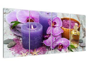Obraz orchideí a svíček (V020894V16080)