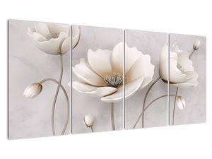 Obraz bílých květin (V020898V16080)