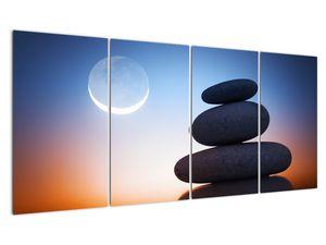 Obraz poskládaných kamenů na sobě (V020903V16080)