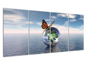 Obraz motýla na skleněné kouli (V021198V16080)