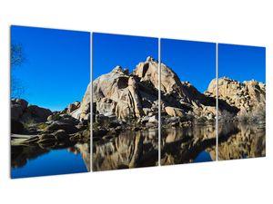 Obraz zrkadlenie skál (V021327V16080)