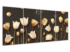 Obraz - Tulipány - abstraktné (V021347V16080)