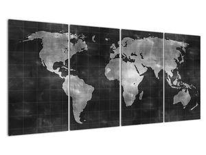 Obraz - Mapa světa (V021461V16080)