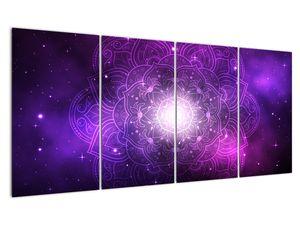 Obraz fialové abstrakce (V022148V16080)