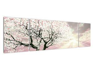 Růžový obraz stromu (V020058V17050)