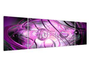 Obraz krásné fialové abstrakce (V020060V17050)