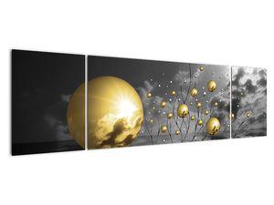 Okker gömbök képe (V020109V17050)