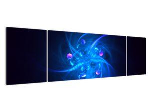 Moderní obraz modré abstrakce (V020137V17050)