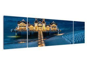 Tablou - hotel pe plajă (V020289V17050)