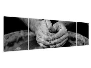 Černobílý obraz - výroba keramiky (V020349V17050)