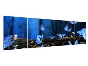 Obraz modrých motýlů (V020434V17050)