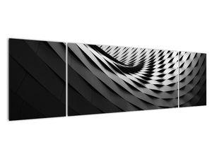 Abstraktní obraz - černobílá spirála (V020667V17050)