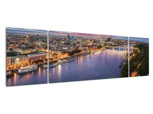 Obraz nočného mesta Bratislavy s riekou (V020706V17050)
