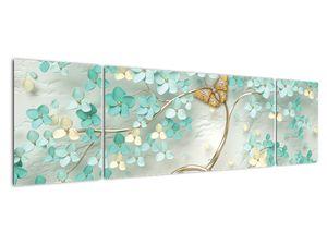 Obraz květiny s motýly (V020716V17050)