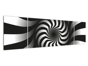 Abstraktní obraz černobílé spirály (V020831V17050)