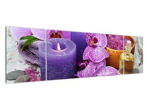 Obraz orchideí a svíček (V020894V17050)