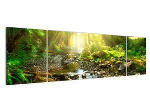 Obraz řeky v zeleném lese (V020942V17050)