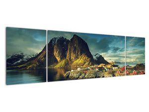 Obraz rybářské vesnice v Norsku (V021280V17050)