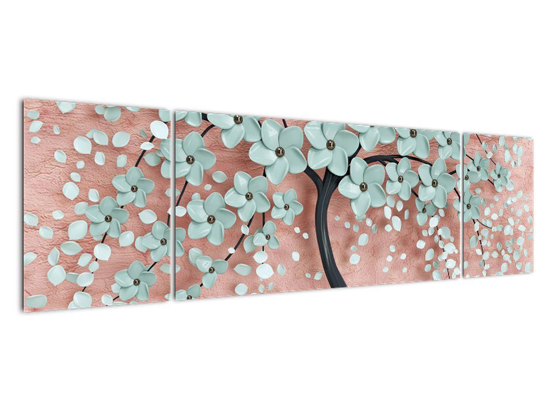 Obraz - Pastelově modré květy (V021459V17050)