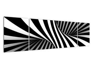 Absztrakt kép zebra csíkokkal (V021960V17050)