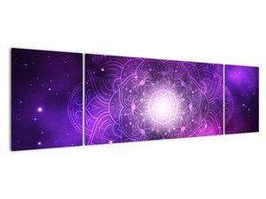 Obraz fialové abstrakce (V022148V17050)