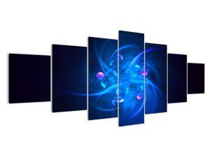 Moderní obraz modré abstrakce (V020137V210100)