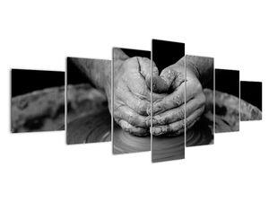 Černobílý obraz - výroba keramiky (V020349V210100)
