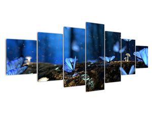 Obraz modrých motýlů (V020434V210100)