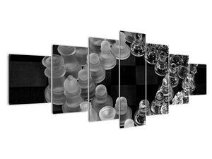 Obraz - černobílé šachy (V020598V210100)