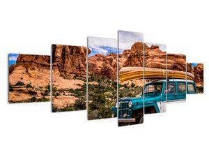 Obraz terenního auta v horách (V020603V210100)