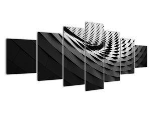 Abstraktní obraz - černobílá spirála (V020667V210100)