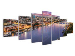 Obraz nočného mesta Bratislavy s riekou (V020706V210100)