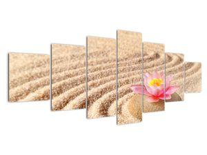 Obraz kameňa s kvetinou na piesku (V020864V210100)