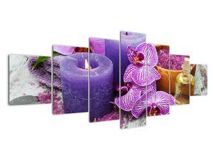 Obraz orchideí a svíček (V020894V210100)