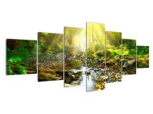 Obraz řeky v zeleném lese (V020942V210100)