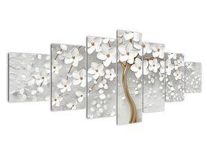 Obraz bílého stromu s květinami (V020977V210100)