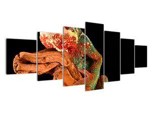 Obraz chameleona na větvi (V021125V210100)