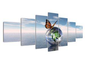 Obraz motýla na skleněné kouli (V021198V210100)