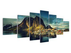 Obraz rybářské vesnice v Norsku (V021280V210100)
