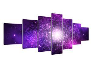 Obraz fialové abstrakce (V022148V210100)