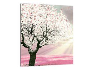 Růžový obraz stromu (V020058V3030)