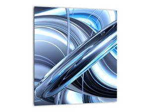 Tablou cu abstracție albastră (V020061V3030)