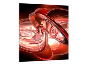 Obraz - červené tvary (V020064V3030)