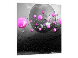 Tablou cu bile roz  (V020105V3030)